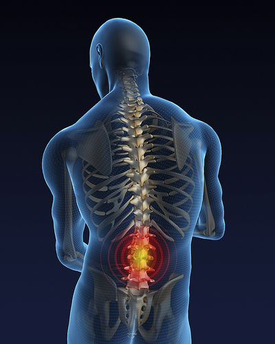 human back with pain